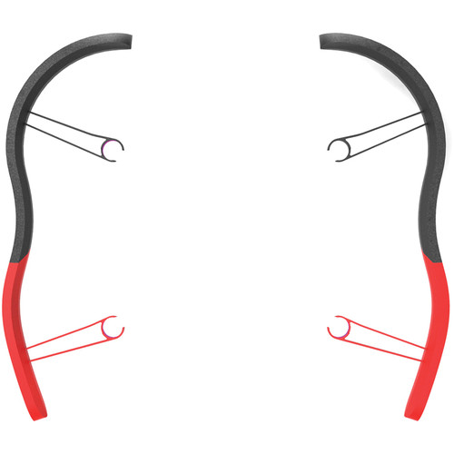 Parrot EPP Bumpers for BeBop Drone (Red, Pair)