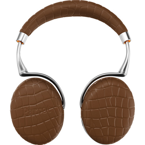 Parrot Zik 3.0 Stereo Bluetooth Headphones & Wireless Charger (Brown, Croc)