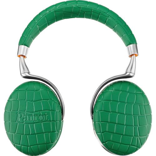 Parrot Zik 3.0 Stereo Bluetooth Headphones & Wireless Charger (Emerald Green, Croc)