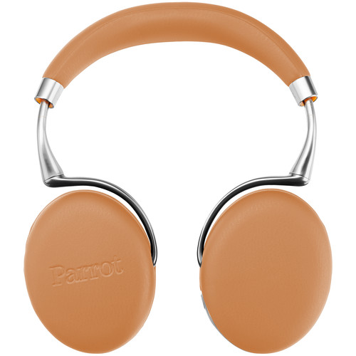 Parrot Zik 3.0 Stereo Bluetooth Headphones & Wireless Charger (Camel, Leather-Grain)