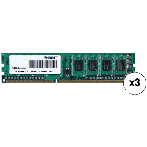 Patriot 12GB DDR3 1600 MHz DIMM Signature Line Memory Kit (3 x 4GB)