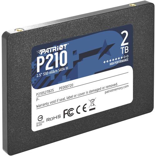 """Patriot 2TB P210 Sata III 2.5"""" SSD"""
