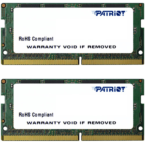 Patriot 16GB Signature Line Series DDR4 2400 MHz SODIMM Memory Module Kit (2 x 8GB)