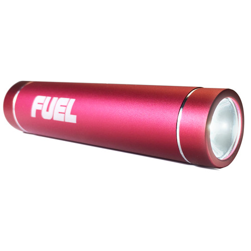 Patriot FUEL Active Mobile Rechargeable Battery with 3-Stage LED Flashlight (2600 mAh, Red)