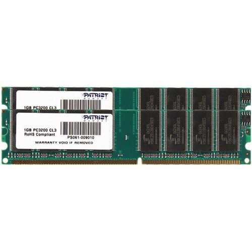 Patriot Signature Line 2GB (2 x 1GB) DDR PC3200 DIMM Memory Module Kit