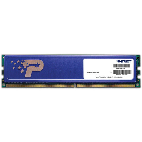 Patriot Signature Line 4GB DDR3 PC3-12800 240-Pin DIMM Memory with Heat Shield