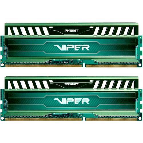 Patriot 32GB (4 x 8GB) Viper 3 Series DDR3 PC3-12800 (1600 MHz) UDIMM Memory Module Kit (Jungle Green)