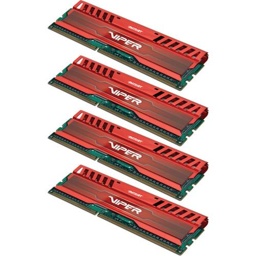 Patriot Viper 3 32GB (4 x 8GB) DDR3 CL9 1600 MHz Memory Quad Kit (Venom Red)