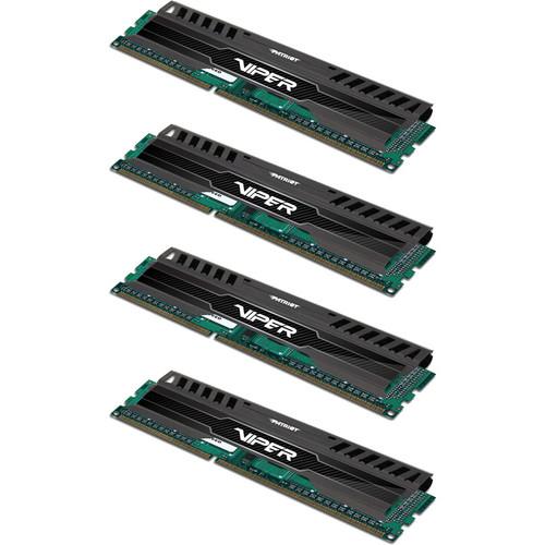 Patriot Viper 3 32GB (4 x 8GB) DDR3 CL10 1866 MHz Memory Kit (Black Mamba)