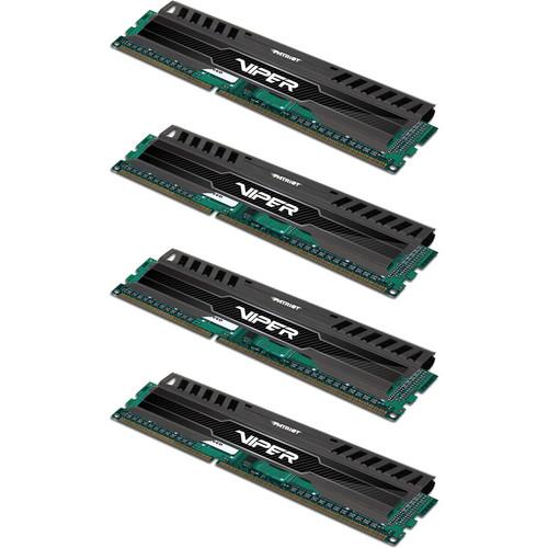 Patriot Viper 3 32GB (4 x 8GB) DDR3 CL11 2133 MHz Memory Kit (Black Mamba)