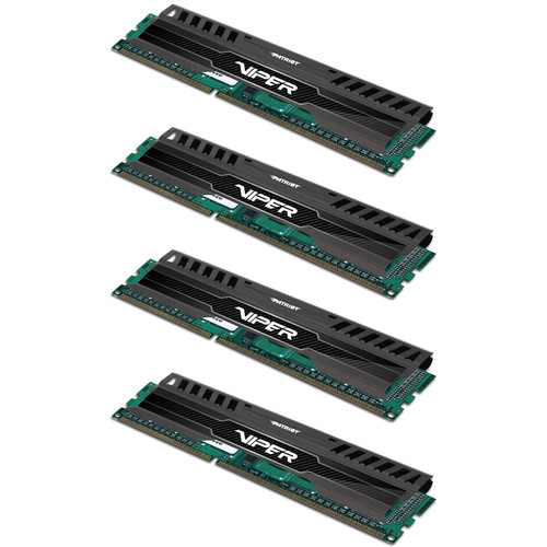 Patriot Viper 3 32GB (4 x 8GB) DDR3 2400 MHz Memory Quad Kit (Black Mamba)
