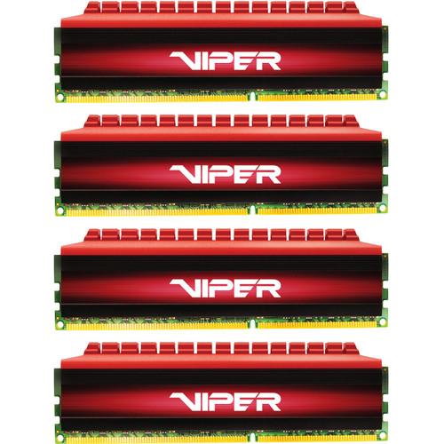 Patriot Viper 4 DDR4 PC4-19200 16GB (4 x 4GB) 2400 MHz UDIMM Kit (Black/Red)