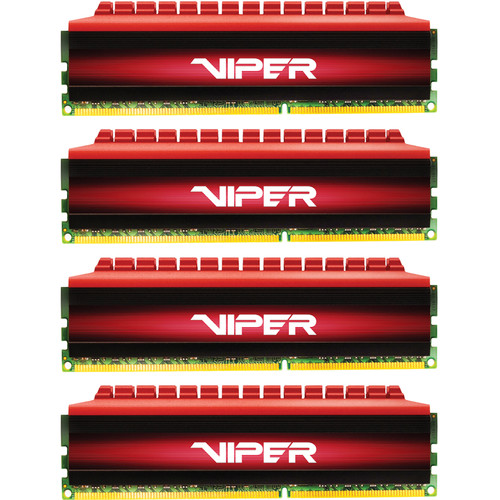 Patriot Viper 4 DDR4 PC4-22400 16GB (4 x 4GB) 2800 MHz UDIMM Kit (Black/Red)