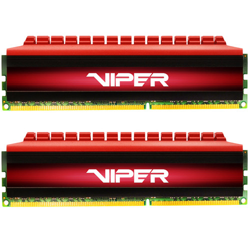 Patriot 16GB Viper 4 DDR4 3400 MHz UDIMM Memory Kit (2 x 8GB, Black/Red)