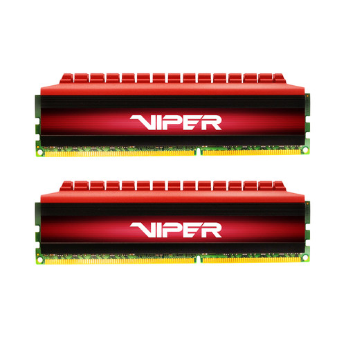Patriot Viper 4 Series 16GB DDR4 3733 MHz UDIMM Memory Kit (2 x 8GB, Red/Black)