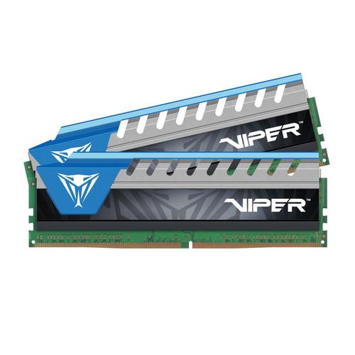 Patriot Viper Elite Series DDR4 2666 MHz UDIMM Memory Module Kit (2 x 8GB, Black/Blue)