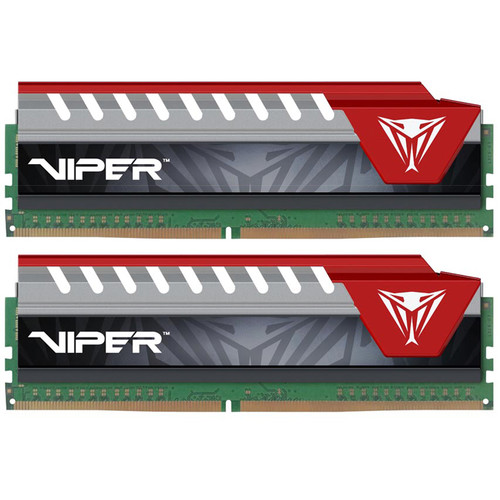 Patriot 16GB Viper Elite DDR4 3200 MHz UDIMM Memory Kit (2 x 8GB, Red)