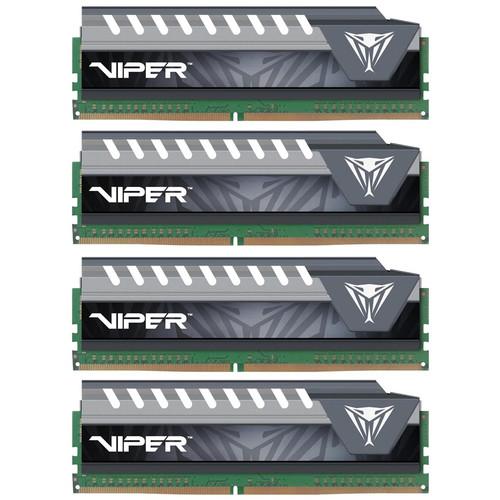 Patriot 64GB (4 x 16GB) Viper Elite Series Extreme Performance DDR4 PC4-21300 (2666 MHz) UDIMM Memory Module Kit (Black/Gray)