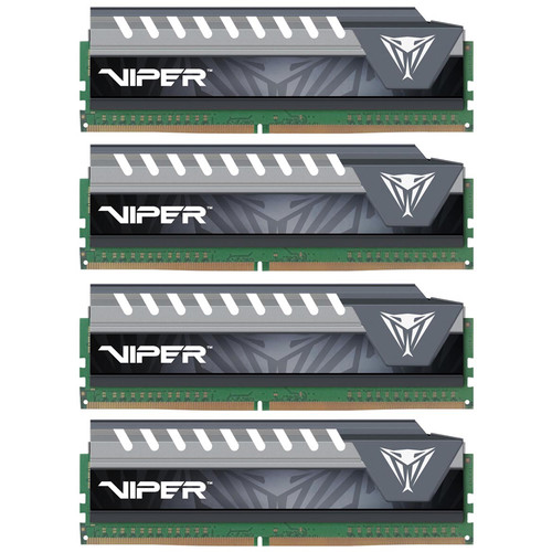 Patriot 64GB (4 x 16GB) Viper Elite Series Extreme Performance DDR4 PC4-22400 (2800 MHz) UDIMM Memory Module Kit (Black/Gray)