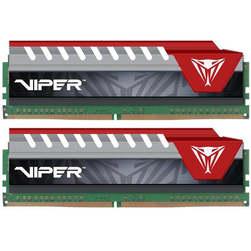 Patriot 8GB Viper Elite DDR4 2400 MHz UDIMM Memory Kit (2 x 4GB, Black/Red)