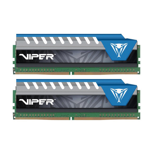 Patriot 8GB Viper Elite Series DDR4 2666 MHz UDIMM Memory Kit (2 x 4GB , Black/Blue)