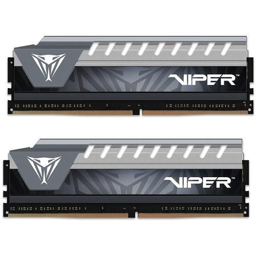 Patriot 8GB Viper Elite DDR4 2666 MHz UDIMM Memory Kit (2 x 4GB,Gray)