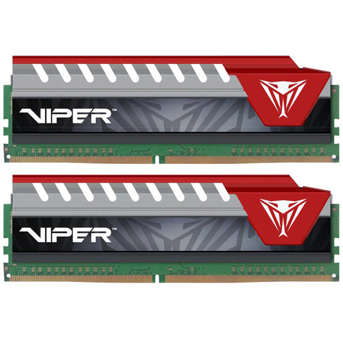 Patriot 8GB Viper Elite DDR4 3000 MHz UDIMM Memory Kit (2 x 4GB, Black/Red)