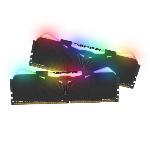 Patriot 16GB Viper RGB Series DDR4 2666 MHz UDIMM Memory Module Kit (2 x 8GB, Black)