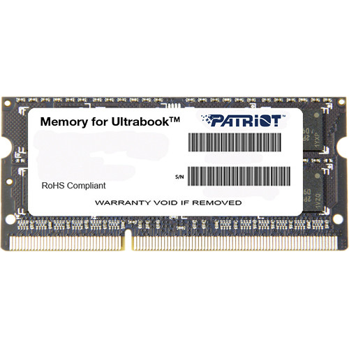 Patriot Signature Series 8GB DDR3 PC3-12800 1600 MHz SODIMM Memory Module (2-Pack)