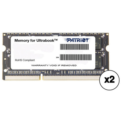 Patriot Signature Series 8GB DDR3 PC3-12800 1600 MHz SODIMM Memory Module (2-Pack)