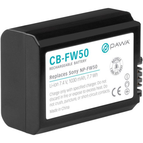 Pawa NP-FW50 Lithium-Ion Battery Pack (7.4V, 1030mAh)