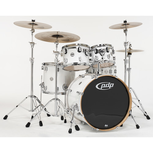 PDP Concept Maple Series 5-Piece Drum Kit (Pearlescent White Finish)
