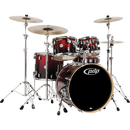 PDP Concept Maple Series 5-Piece Drum Kit (Red Fade to Black Finish)