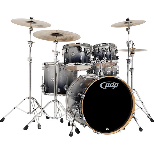 PDP Concept Maple Series 5-Piece Drum Kit (Silver Fade to Black Finish)