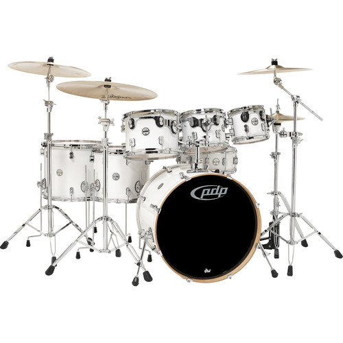 PDP Concept Maple Series 7-Piece Drum Kit (Pearlescent White Finish)