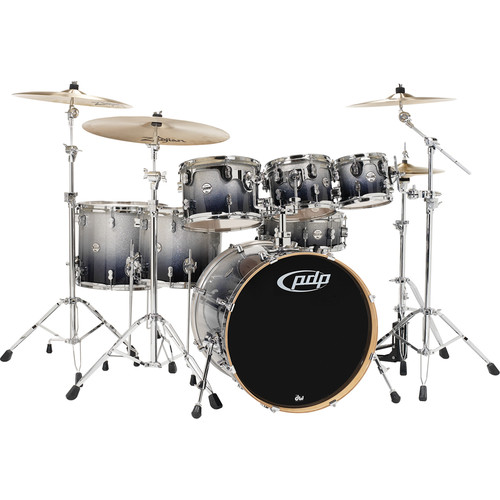 PDP Concept Maple Series 7-Piece Drum Kit (Silver Fade to Black Finish)