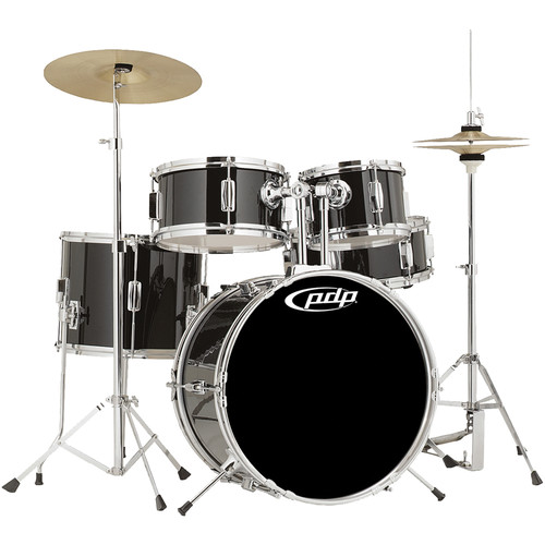 PDP Player Junior Drum Kit with Cymbals Throne - Black
