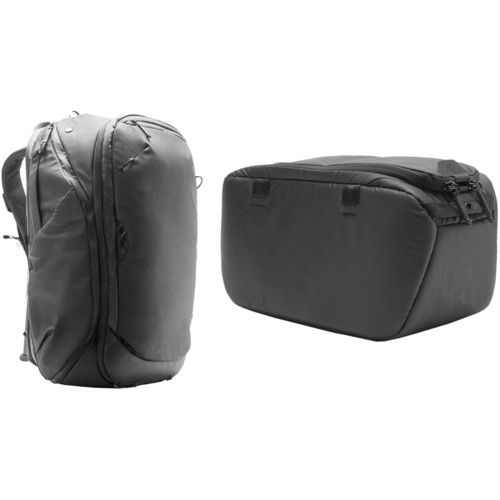Peak Design 45L Travel Backpack with Small Camera Cube Kit (Black)