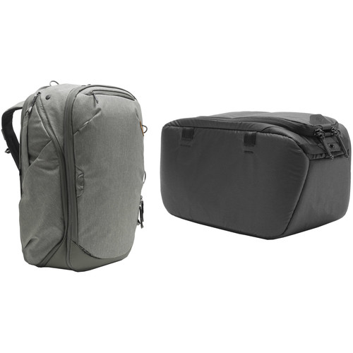 Peak Design 45L Travel Backpack with Small Camera Cube Kit (Sage)