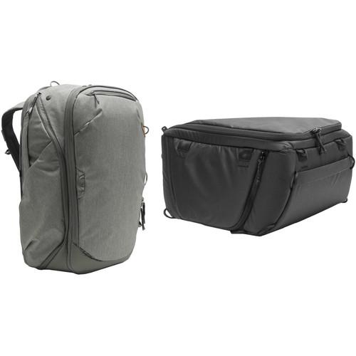 Peak Design 45L Travel Backpack with Medium Camera Cube Kit (Sage)