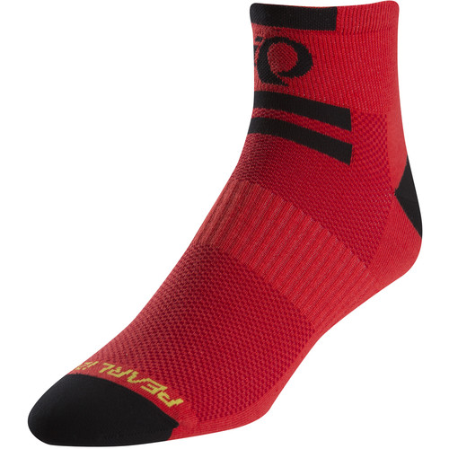 Pearl Izumi Men's ELITE Low Sock (Large, Pi Core Red)