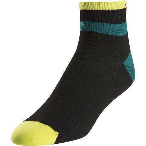 Pearl Izumi Men's ELITE Low Sock (Medium, Band Stripe Green)