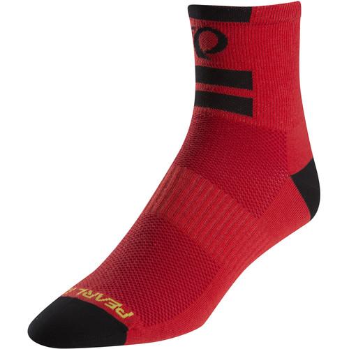 Pearl Izumi Men's ELITE Socks (XL, Pi Core Red)