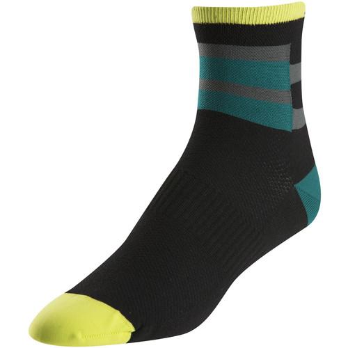Pearl Izumi Men's ELITE Socks (XL, Band Stripe Green)
