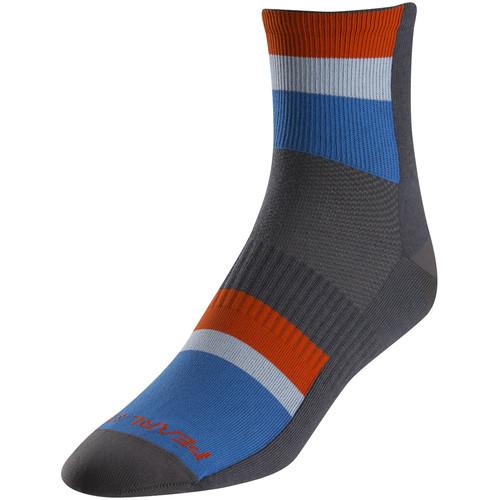 Pearl Izumi Men's ELITE Socks (Large, Long Stripe Blue)