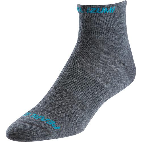 Pearl Izumi Men's ELITE Low Wool Sock (Medium, Shadow Gray)