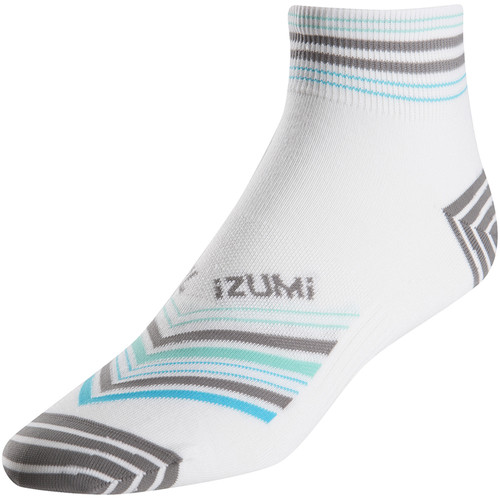 Pearl Izumi Women's ELITE Socks (Large, Strip Stripe Gray)
