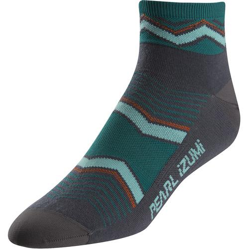 Pearl Izumi Women's ELITE Socks (Small, Chevrons Viridian Green)