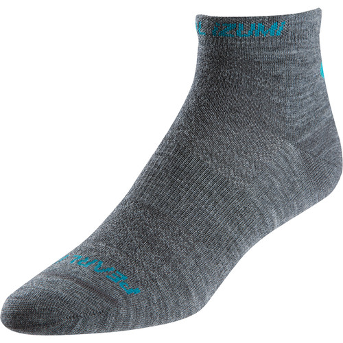 Pearl Izumi Women's ELITE Low Wool Socks (Small, Shadow Gray)