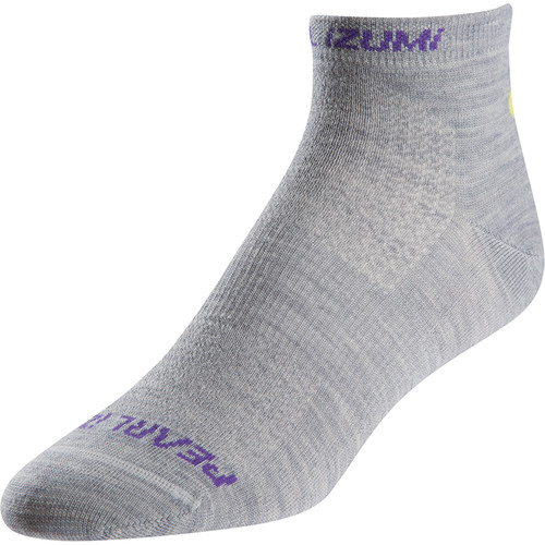 Pearl Izumi Women's ELITE Low Wool Socks (Small, Limestone)